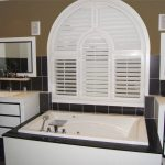 vinyl shutters bathtub window